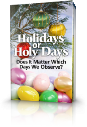 Holidays or Holy Days?